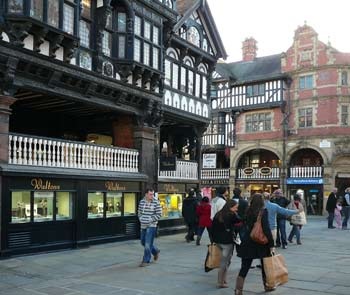 shopping holiday in Chester north west England UK