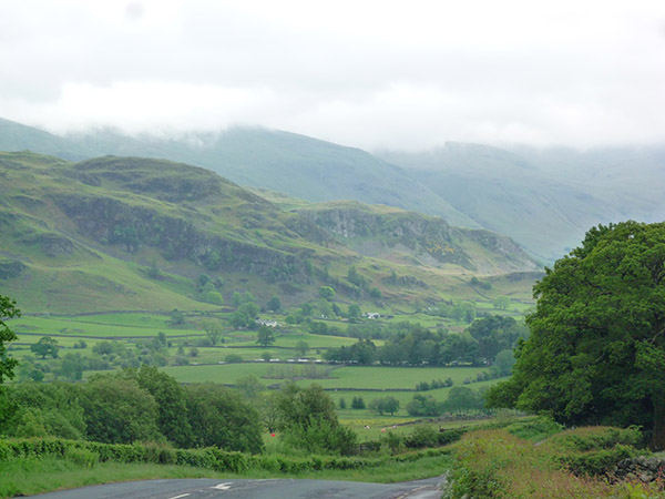Rolling countryside in the Lake District