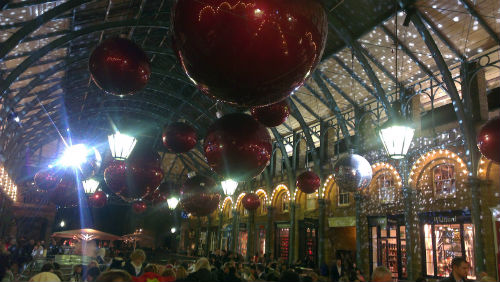 Beautiful Christmas Market at Covent Garden London