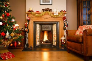 Relax by the fire at Christmas Time