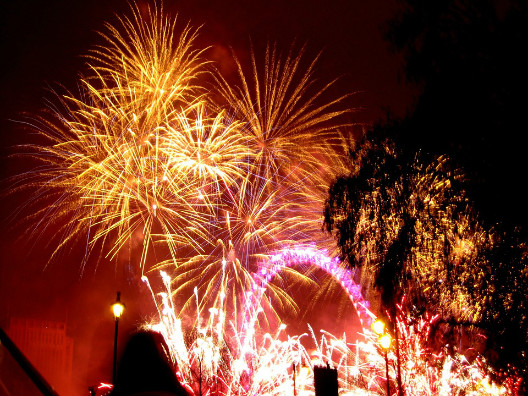 London Lit Up with Fireworks